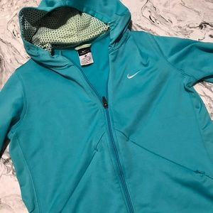 Nike Therma-Fit Hooded Zip-Up Teal Size XL